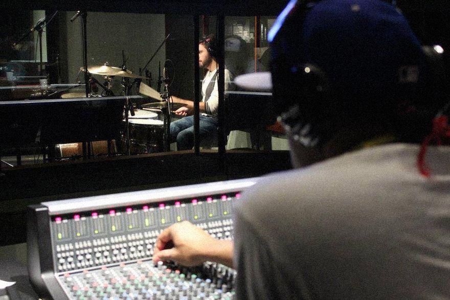 """Franz """"GK"""" Liverpool recording in the studio"""